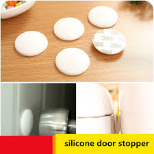 white silicone thicker wall protector rubber door handle mute stoppers self adhesive cushioning pad per