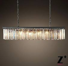 young house love mercury glass prism chandelier replica item industrial length clear rectangular vintage re crystal