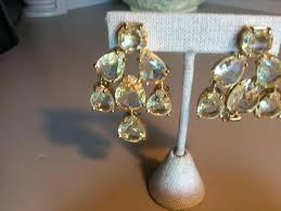 phenomenal gold tone crystal chandelier earrings