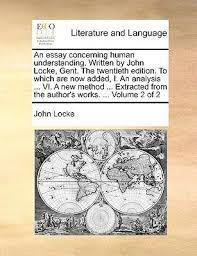 An Essay Concerning Humane Book By John Locke