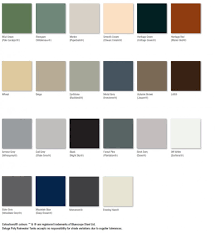 Poly Filter Color Chart Poly Rainwater Colour Chart Deluge Rainwater Tanks