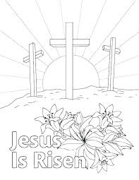 Religious Easter Coloring Pages Staranovaljainfo