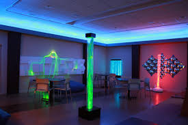 subdued lighting. Subdued Lighting, Fiber-optic Lights, And Bubble Tubes Resembling Giant Lava Lamps Are Lighting