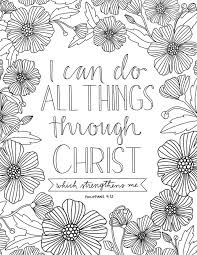 Small Picture LDS coloring page I can do all things through Christ Church