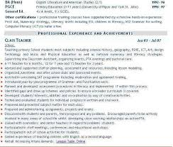 Cv For Teaching Teaching Cv Example Teacher Cv Curriculum Vitae Service