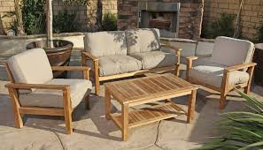 Nice Wooden Outdoor Sofa with Modern Wooden Outdoor Furniture