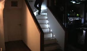 led stairwell lighting. DIY LED Stair Lighting System Gets Video Demo Led Stairwell