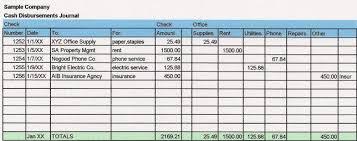 Bookkeeping Journal Template Cash Disbursements Journal How To Set Up A Simple Journal