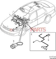 Diagram saab stereo wiring · esaabparts saab 9 5 9600 electrical parts wiring harness instrument panel