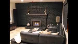 paint brick fireplace gray