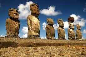 ahu tongariki megaliths in rapa nui