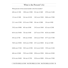 Percents Worksheet- Finding percent of a number | Math review ...