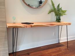 sofa hall table. Console Table- Wood Desk- Plant Stand- Sofa Table-Entryway Table-Mid Century-Hairpin Legs- 15\ Hall Table O