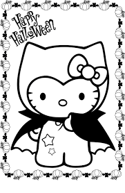 Small Picture Halloween Hello Kitty Coloring Pages Hello Kitty Halloween