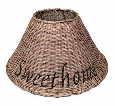 Gewoon Bruine Rieten Lampenkap Sweet Home