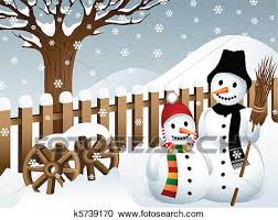 country snowman graphic. Exellent Snowman Clipart  Snowmen In The Country Fotosearch Search Clip Art  Illustration Murals Intended Country Snowman Graphic