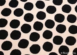 vintage scandinavian round verner panton black and white polka dot rug at 1stdibs