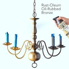 spray painting light fixtures painting a brass chandelier