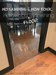 how to refinish parquet floors without sanding