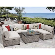Monterey 7 Piece Outdoor Wicker Patio Furniture Set 07a Free