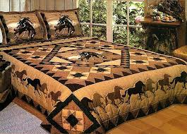 Quilt Bedding - Twin, Full / Queen or King Quilt Cowboy bedding ... & Cowboy Quilt Bedding - Twin, Full / Queen or King Quilt Cowboy bedding with  shams Adamdwight.com