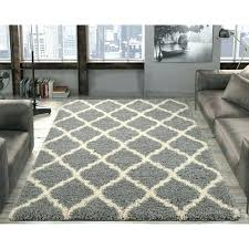 white area rug 8x10 fluffy gray ultimate gy black and