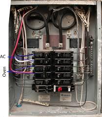 hints tips indoor breaker panel oven circuit