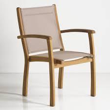 Rivera Teak Outdoor Sling Stacking Chair  OutdoorOutdoor Sling Furniture
