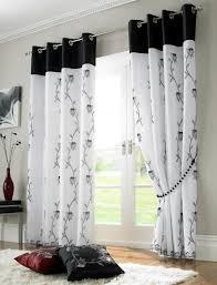 tahiti lined black voile curtains