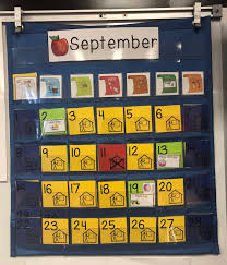 Color Coded Calendar Visuals Breezy Special Ed