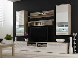 Modern Black Living Room Furniture Tv Unit Storage Living Room Modern Wall Units High Gloss