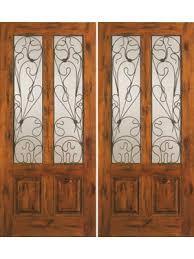 exterior double doors. Knotty Alder Exterior Double Door, Twin Lite 2 Panel [46, Doors O
