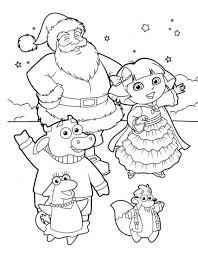 Small Picture Dora The Explorer Coloring Pages For Kids For Christmas Free