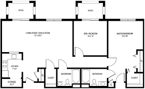 Two Bedroom C Apartment Floor Plan