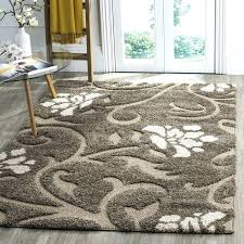 beige wool rug 8x10 opus damask ft cream ivory fl navy blue area rugs
