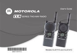 Motorola Cls1110 Users Manual Manualzz Com