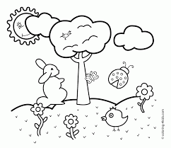 Spring Coloring Pages For Kids Printable Zoloftonline Buyinfo