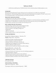 Prepossessing Nanny Resume Skills Examples Also Nanny Job