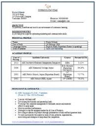Resume Format For Job Interview Free Download Resume Corner