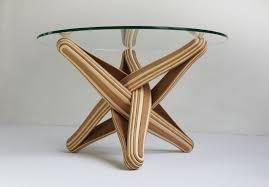 original design coffee table bamboo tempered glass round lock by j p meulendijks