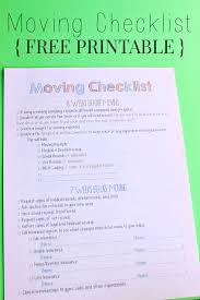 Free Printable Moving Checklist Moving Checklist Printable Household Hints Moving Checklist