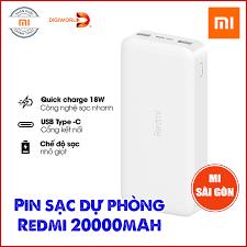 BẢN QUỐC TẾ] Pin sạc dự phòng Xiaomi Redmi 20000mAh PB200LZM Sạc nhanh 18W  Micro USB & Type - Ipaky