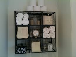 ... Wall Shelves For Towels Square Metal Rack With 9 Space For Bathroom Kit  Over Toilet Bathroom ...