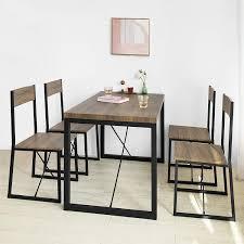 Sobuy Ogt20 N Esszimmertisch Esstisch Küchentisch Holztisch Metall Im Industrial Look