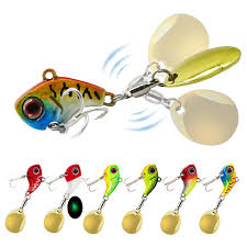 <b>Metal Mini VIB</b> w/ Spoon 8g 12g 15g Fishing Lure Fishing Tackle Pin ...