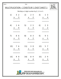 14. free 3rd grade math worksheets multiplication 2 digits by 1 ...