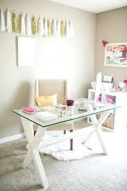 white glass desks for office feminine decor home desk white glass desktop these top desk