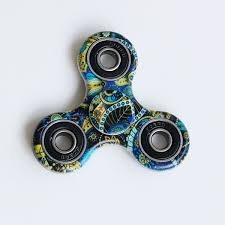Fidget Spinner Pattern New Bohemian Pattern Focus Toy Fidget Spinner In Blue Sammydress