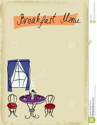 breakfast menu template breakfast menu stock vector image of equipment background 9375451