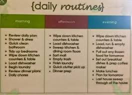 Adhd Morning Routine Chart My Daily Routine For 3months Adult Adhd Support